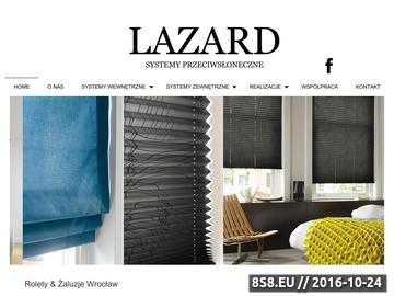 Zrzut strony Lazard Systemy Przeciwsłoneczne - żaluzje Wrocław