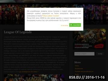 Zrzut strony League of Legends