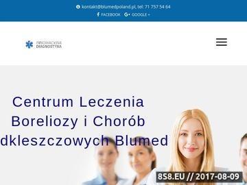 Zrzut strony Centrum Leczenia Boreliozy - Blumed