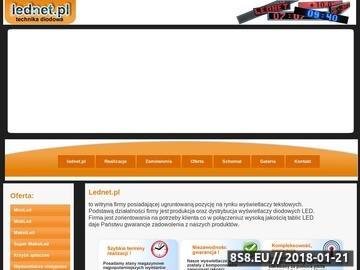 Zrzut strony Lednet - Strona główna