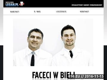 Zrzut strony Faceci w bieli Prywatny Gabinet Lekarsko - Dentystyczny Legan.pl Stomatolog Toruń