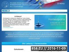 Miniaturka domeny lekarzehomeopaci.pl
