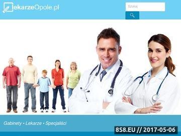 Zrzut strony Gabinety lekarskie z Opola