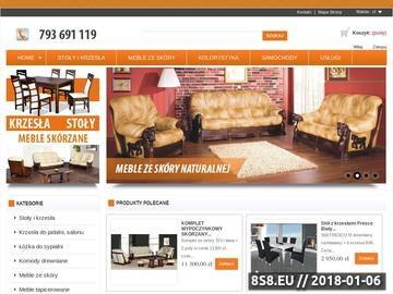 Zrzut strony Eleganckie i nowoczesne meble, w tym stoły i krzesła od Lemag