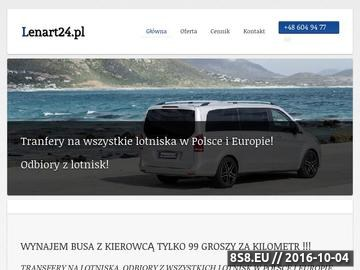 Zrzut strony Odbiory z lotniska, transport busem Berlin - Szczecin