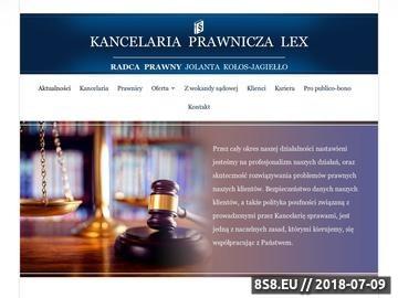 Zrzut strony LEX - odszkodowania za błędy medyczne w Warszawie