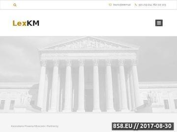 Zrzut strony Kancelaria prawna Warszawa
