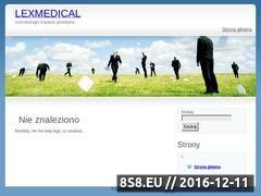 Miniaturka domeny lexmedical.pl