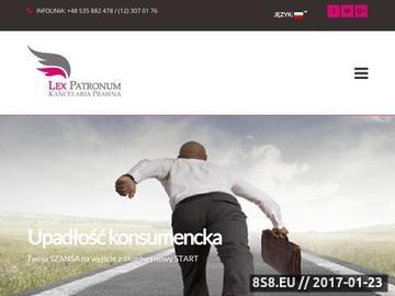 Zrzut strony Lexpatronum oddział Kraków