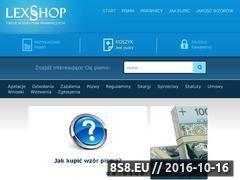 Miniaturka domeny www.lexshop.com.pl