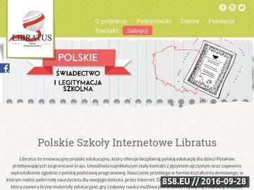 Zrzut strony Bezpłatna edukacja dla polskich dzieci za granicą - Libratus
