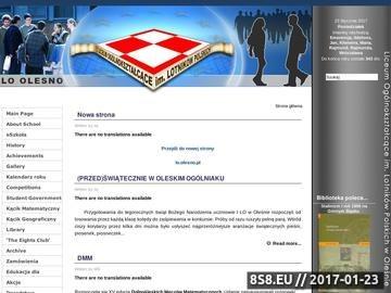 Zrzut strony I LO Oleśno - szkoła średnia