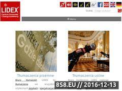 Miniaturka domeny www.lidex.com.pl