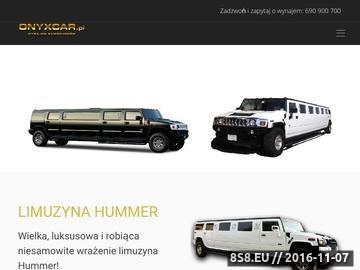 Zrzut strony Wynajem limuzyn marki Hummer