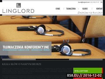 Zrzut strony Tłumaczenia Warszawa - Linglord