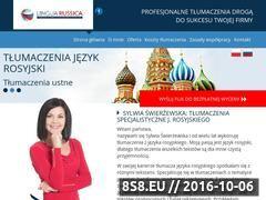 Miniaturka domeny www.linguarussica.pl