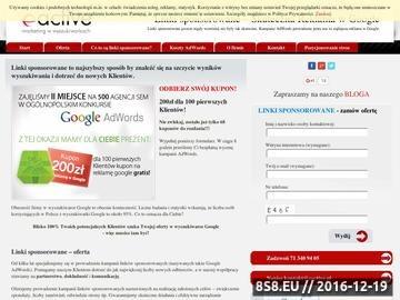 Zrzut strony Linki sponsorowane