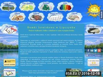 Zrzut strony Lipczynek - domki w lesie nad jeziorem, pomost, łódka, silnik (noclegi)
