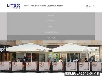 Zrzut strony Litex ZPH Stanisław Litwin - producent nośników reklamowych