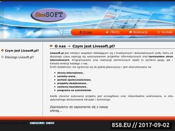 Zrzut strony Tworzenie stron internetowych Opole, Livesoft.pl