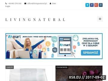Zrzut strony Livingnatural.pl - zdrowie i uroda, naturalne kosmetyki, naturalne produkty