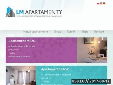 Zrzut strony Apartamenty do wynajęcia w Szczecinie