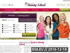 Thumbnail of Beauty School Website