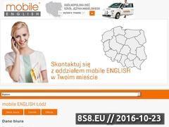 Miniaturka domeny www.lodz.mobileenglish.pl
