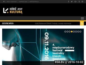 Zrzut strony Strona informacyjna dla Łodzi o kulturze i wydarzeniach w mieście