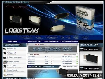 Zrzut strony Logisteam.pl - keylogger sprzętowy, keyloger