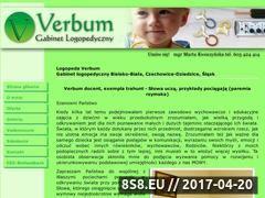 Miniaturka domeny www.logopeda-verbum.pl