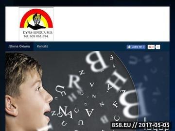 Zrzut strony Usługi logopedyczne DYNA-LINGUA
