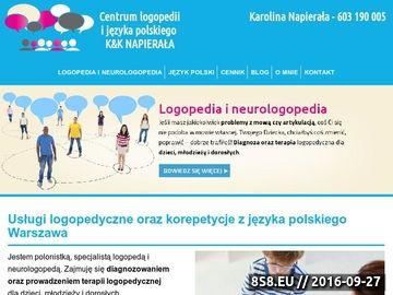 Zrzut strony Neurologopedia Warszawa