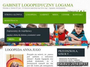 Zrzut strony Diagnoza i terapia logopedyczna - logopeda Anna Jugo Wrocław