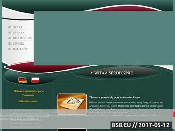 Zrzut strony Język niemiecki - tłumacz Poznań