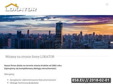 Zrzut strony LOKATOR administrowanie nieruchomości