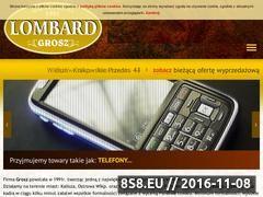 Miniaturka domeny www.lombardgrosz.pl