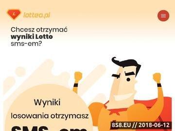Zrzut strony Wyniki Lotto, wyniki Eurojackpot, wyniki Mini Lotto oraz Multi Multi
