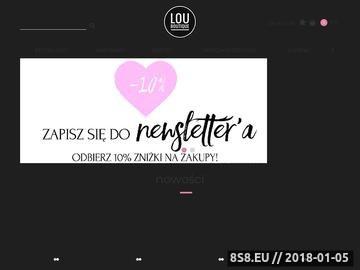 Zrzut strony Lou Boutique