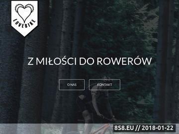 Zrzut strony Sklep rowerowy Lovebike.pl Warszawa
