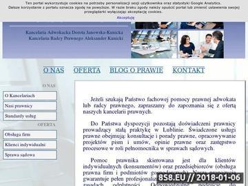 Zrzut strony Lubelskie Kancelarie - Adwokat i radca prawny w Lublinie