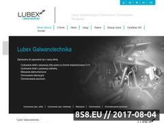 Miniaturka domeny www.lubex-galwanotechnika.pl