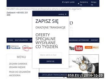 Zrzut strony Sprzedaż, skup i wyceną oryginalnych zegarków szwajcarskich