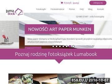 Zrzut strony Luma Fotoksiążki