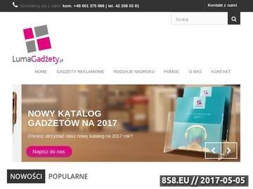 Zrzut strony Luma Gadżety - materiały reklamowe z nadrukiem