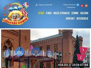 Zrzut strony Lunapark Komar - atrakcje na festyny i eventy