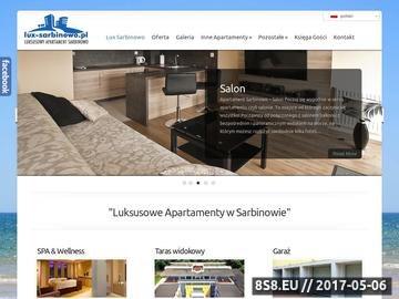 Zrzut strony Sarbinowo Apartamenty - lux-sarbinowo.pl