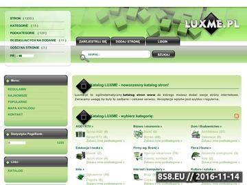 Zrzut strony Luxme.pl - katalog stron internetowych