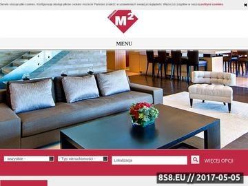 Zrzut strony M² Nieruchomości - Nieruchomości w Stargardzie Szczecińskim