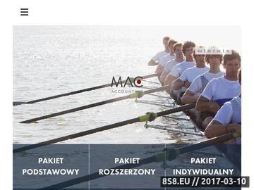 Zrzut strony MAC Accounting - Biuro rachunkowe Warszawa